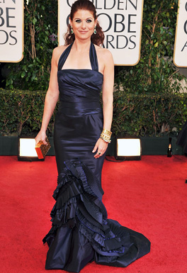 Actress Debra Messing arrives at the 66th Annual Golden Globe Aw