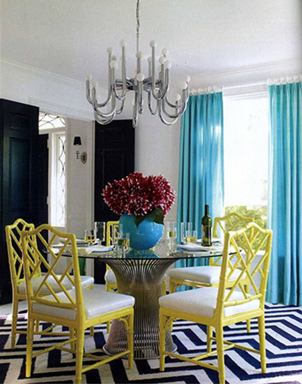 dining room by jonathan adler for liz lange