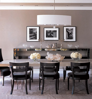 Monique Lhuilliers Dining Room From The House That Brought GRAY Back