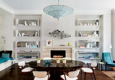 Dining Room Against The Mirrors And I Am Reluctant To Put Another Long Rectangular Table There Entertained Idea Of A Etagere