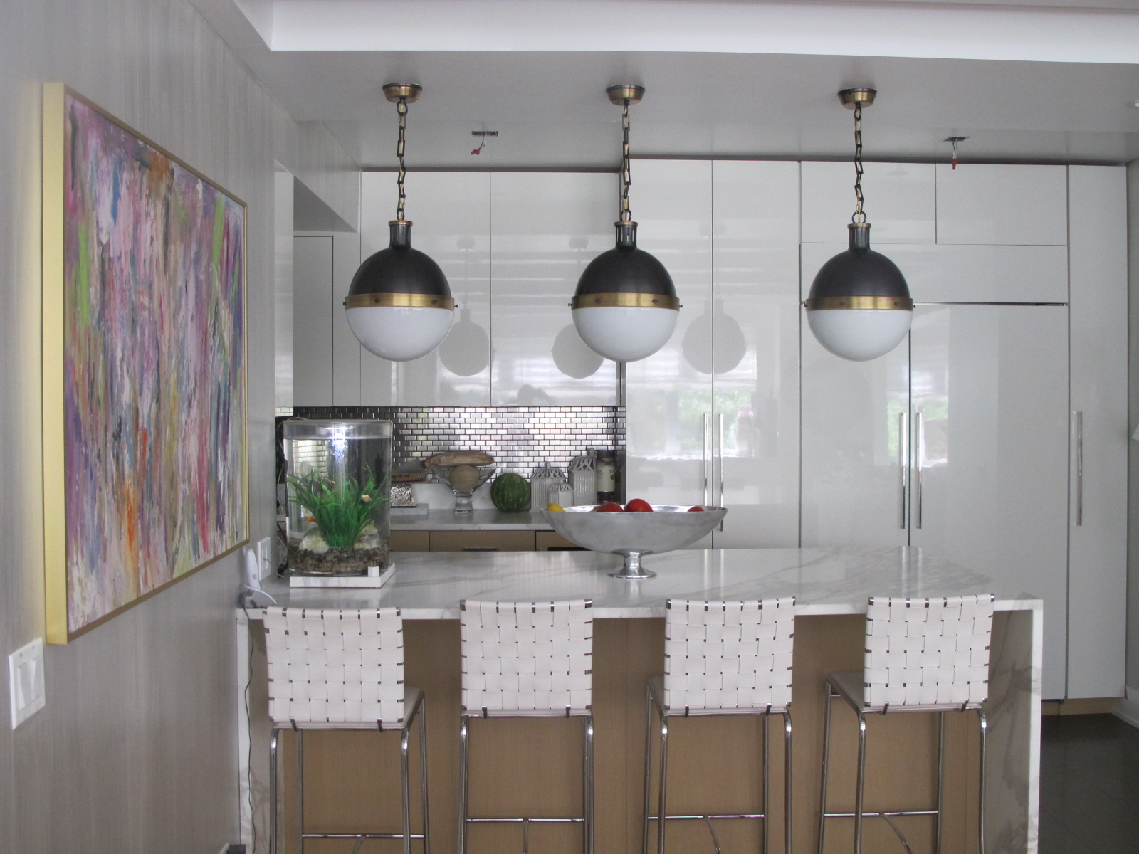 Kitchen Pendant Reveal NICOLE COHEN - Small pendant light fixtures for kitchen