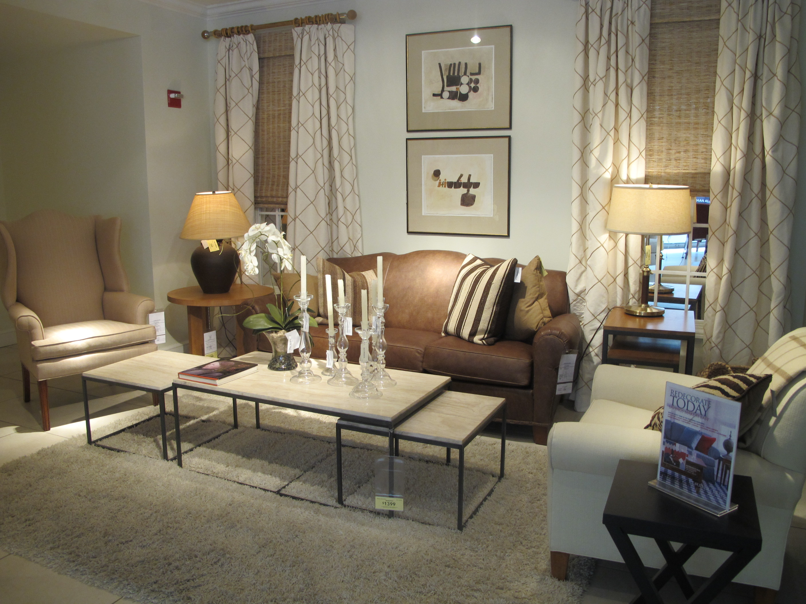 ethan allen furniture store showroom
