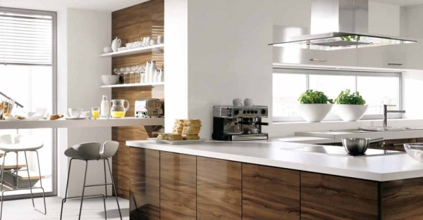 White Brown Kitchens