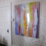 Shower series print on lucite for Deal Showhouse