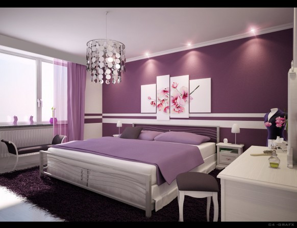purple black and silver bedroom ideas