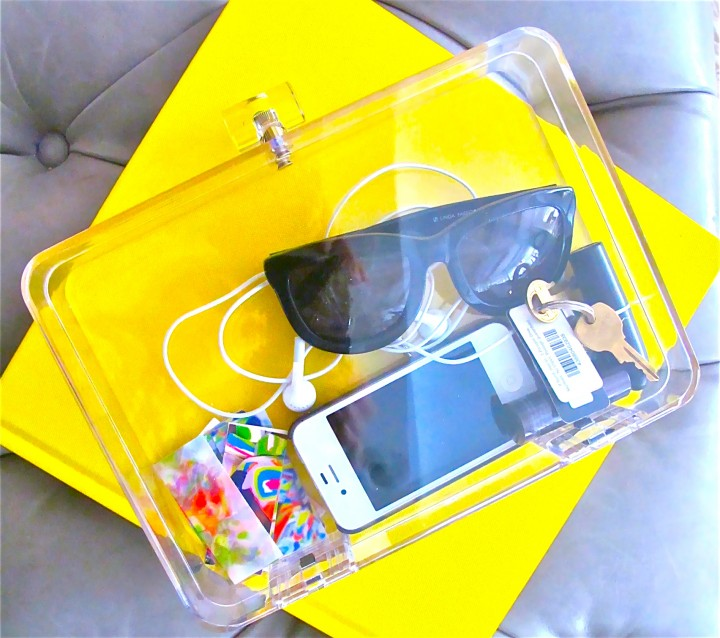 DIY of the Day: Lucite Clutch.