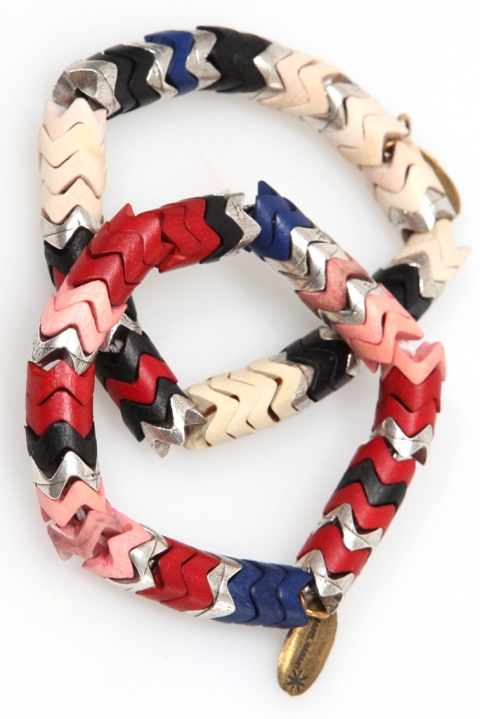 The look for less: Isabel Marant Herringbone Bracelets.