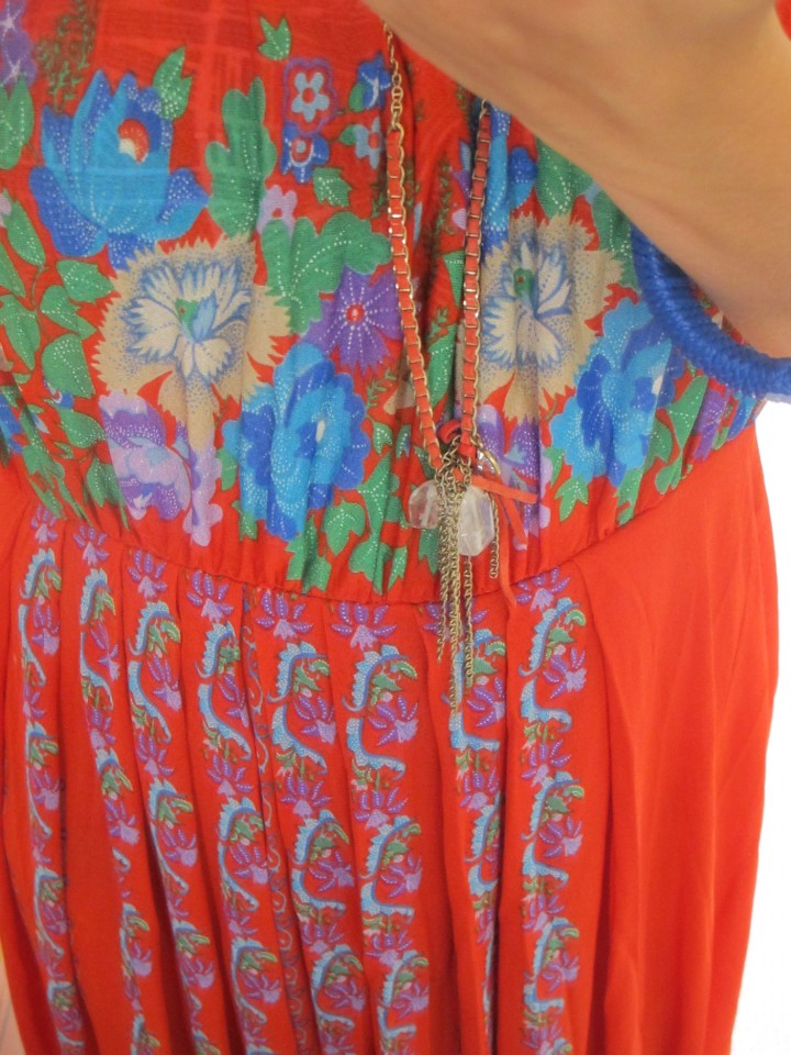 What I'm Wearing: Vintage. Floral. Maxi. Beach Dress.