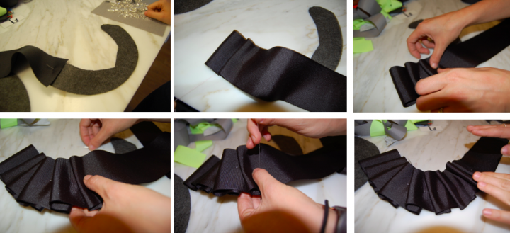 DIY of the Day: Holiday Ruffle Ribbon Collar.