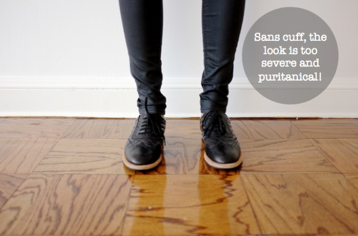 Shoes + Pants = PANTS ATTACHED TO SHOES AS ONE THING