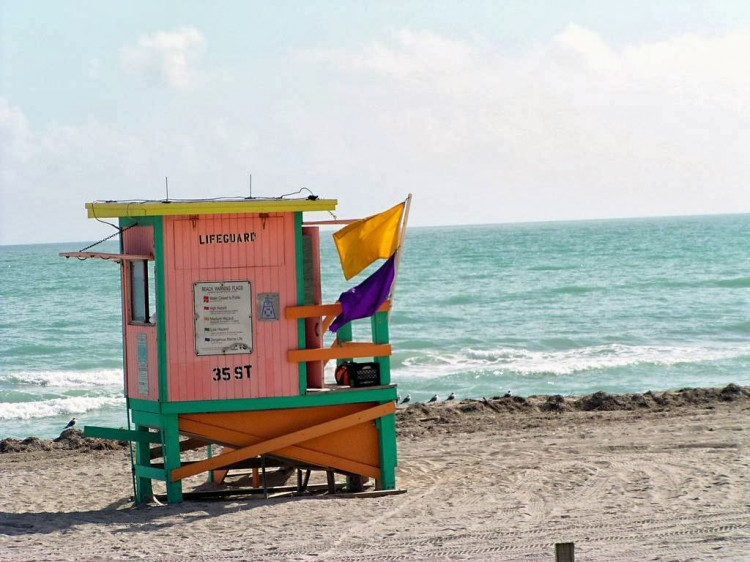 lifeguard tower stand miami beach florida 25