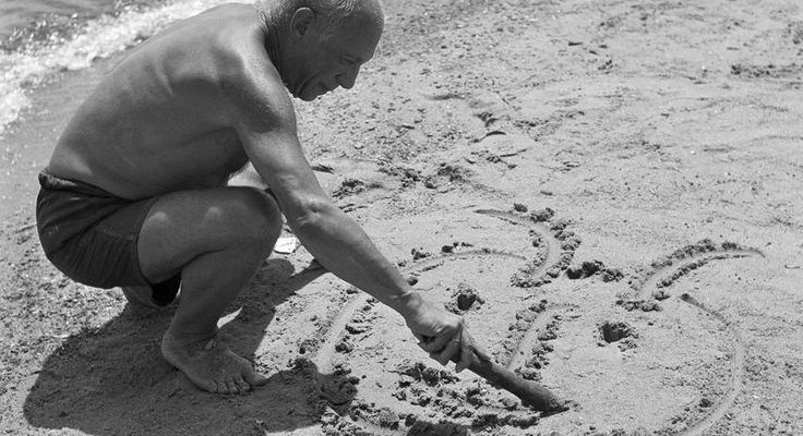Picasso in the sand.
